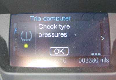 Check the tyre pressures please